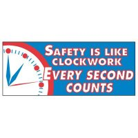Safety Is Like Clockwork Banner