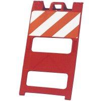 "45"" x 25"" Orange Striped Barricade"