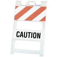 "45"" x 25"" Caution Striped Barricade"
