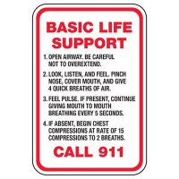 Basic Life Support - Pool Signs