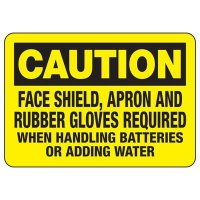 Caution Face Shield Required Sign