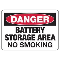 Danger Battery Storage Area Sign