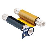 BBP®85  Series Printer Ribbon: R10000, Black/Yellow, 6.25 in W x 200 ft L, 8 in Panels