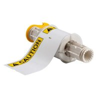 BBP®85 Series Label: Vinyl, ANSI CAUTION, Black/Yellow on White, 4 in H x 6 in W