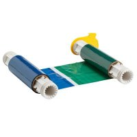 BBP®85 Series Printer Ribbon: R10000, Black/Blue/Green/Red, 6.25 in W x 200 ft L, 8 in Panels