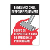Bilingual Chemical Safety Labels - Spill Response Equipment