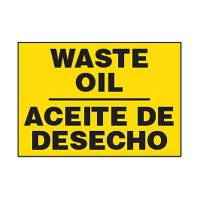 Bilingual Chemical Safety Labels - Waste Oil