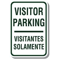 Bilingual Visitor Parking Sign