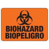 Bilingual Biohazard Sign
