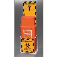 Biohazard Micro Sharps Container Station