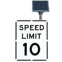 BlinkerSign® Flashing LED Signs - SPEED LIMIT 10