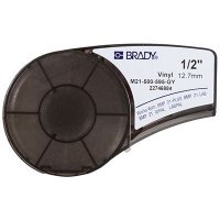Brady BMP21 Plus M21-500-595-GY Label Cartridge - Black on Gray