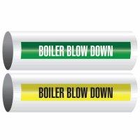 Boiler Blow Down - Opti-Code™ Self-Adhesive Pipe Markers