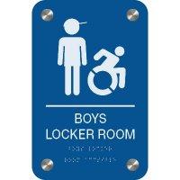 Boy's Locker Room - Premium ADA Facility Signs