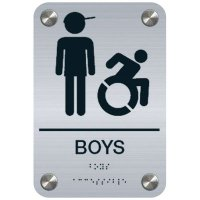 Boys w/ Graphic (Dynamic Accessibility) - Premium ADA Restroom Signs