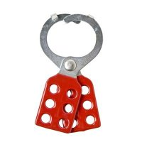 "Brady 105719 Red Steel Lockout Hasp with Tab - 1.5"" Dia"