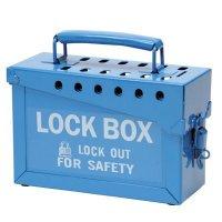 Brady 45190 Portable Metal Lock Box - Blue - 12 Lock Capacity