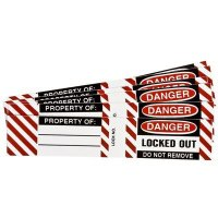 Brady® 50280 Vinyl Danger Locked Out Do Not Remove Padlock Labels - 6PK
