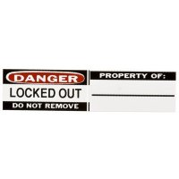 Brady 50289 Danger - Locked Out Durable Vinyl Labels for Aluminum Padlocks - 6PK