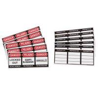 Brady® 51379 Vinyl Padlock English Spanish French Labels - 6PK