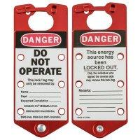 Brady 65960 Tough 5052 Anodized Aluminum Alloy Labeled Lockout Hasps - 5PK