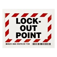 Brady 86204 Lock-Out Point Self Adhesive Labels - 5PK