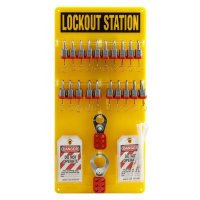 Brady Steel Lockout Station - Filled with 48 Components including 20 Keyed Different Safety Locks
