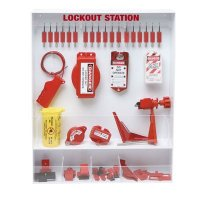 Brady Steel Lockout Station - Filled with 68 Components including 18 Keyed Different Safety Locks