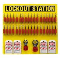 Brady Steel Lockout Station - Filled with 78 Components including 36 Non Conductive Safety Locks