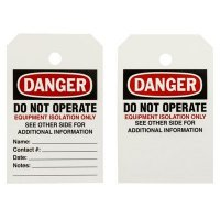 BradyPrinter® THT Printable Tags - Danger Do Not Operate