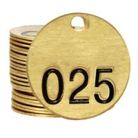 Brass Valve Tags - Single Tags