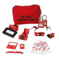 Brady 99296 Breaker Lockout Sampler Pouch With Brady Safety Padlocks & Tags