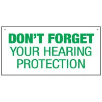 Bulk Warehouse Signs - Don't Forget Hearing Protection