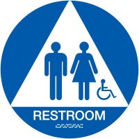 California Men / Women Handicap Restroom Signs