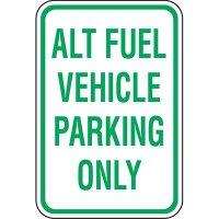 California Reserved Parking Signs - Alt Fuel Parking