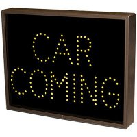 Car Coming Direct View Sign