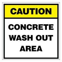 Caution Concrete Wash Out Area Sign