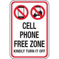 Cell Phone Free Zone Signs