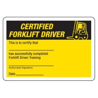 Certification Photo Wallet Cards - Certified Forklift Driver