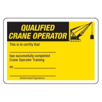 Certification Photo Wallet Cards - Qualified Crane Operator