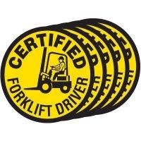 Safety Training Labels - Certified Forklift Driver