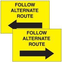 Alternate Route Emergency Response Sign