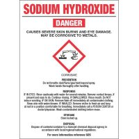 GHS Chemical Labels - Sodium Hydroxide