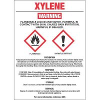 GHS Chemical Labels - Xylene