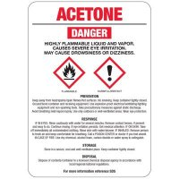 Chemical GHS Signs - Acetone