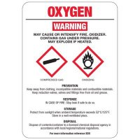 Chemical GHS Signs - Oxygen