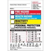 Bilingual PPE Chemical Hazard Label