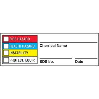 HMIS Labels - SDS No.