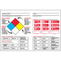 Chemical Hazard Warning Signs and Labels - NFPA Diamond- PPE/ORG