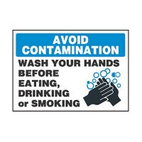 Chemical Safety Labels - Avoid Contamination Wash Your Hands